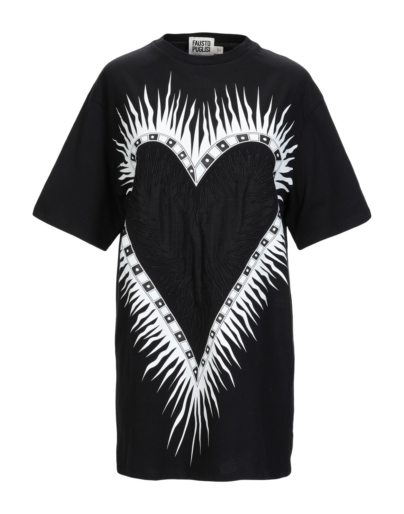 《セール開催中》FAUSTO PUGLISI レディース T シャツ ブラック XXS コットン 100%