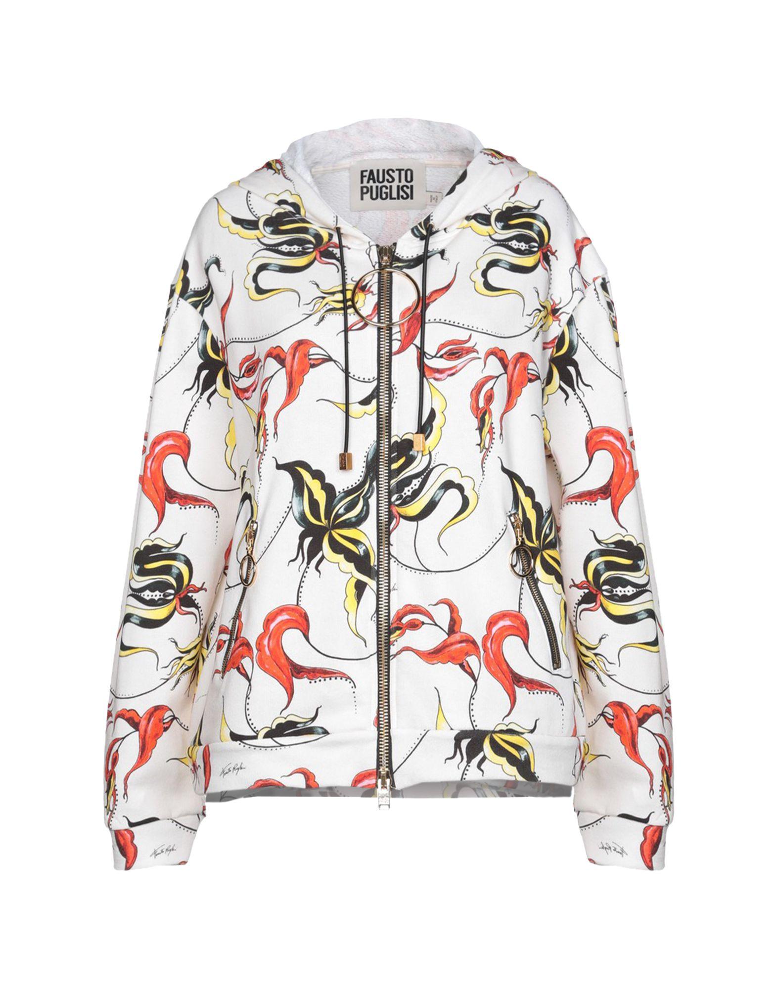 《セール開催中》FAUSTO PUGLISI レディース スウェットシャツ アイボリー XXS 100% コットン