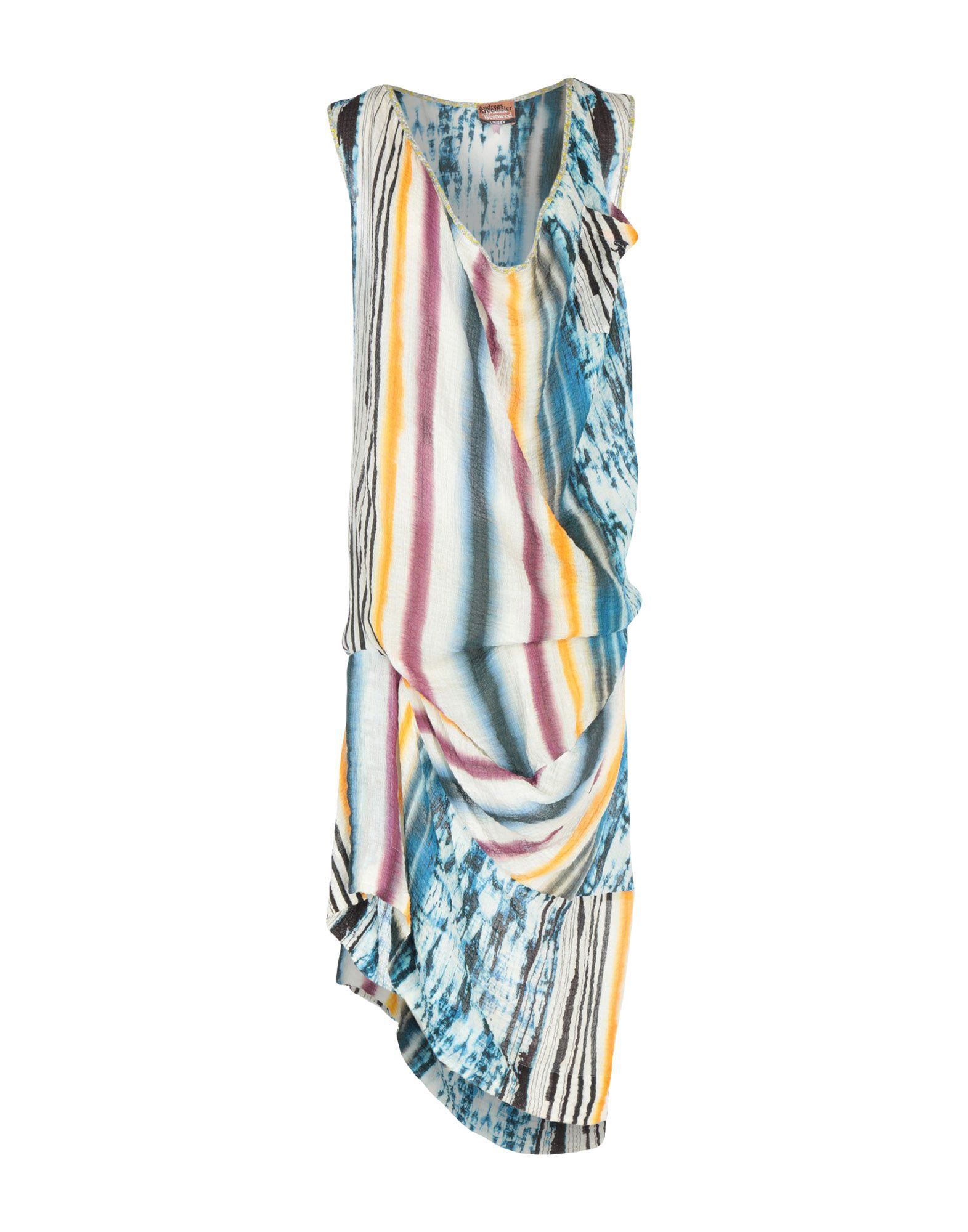 《期間限定セール中》ANDREAS KRONTHALER for VIVIENNE WESTWOOD レディース ミニワンピース&ドレス イエロー 2 コットン 99% / ポリウレタン 1%
