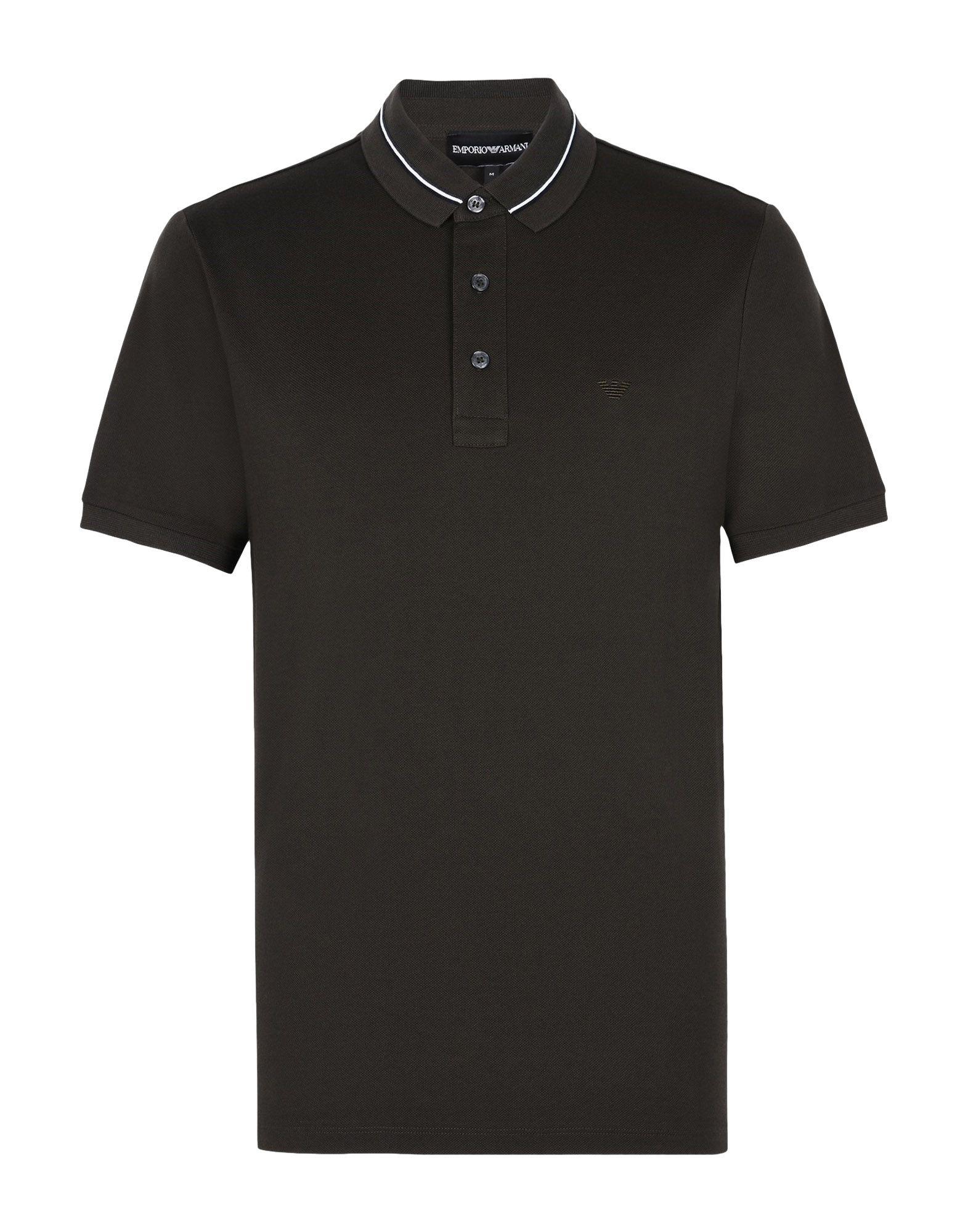 EMPORIO ARMANI Поло zogaa новых корейских мужской рубашки поло моды тонкая вышивка