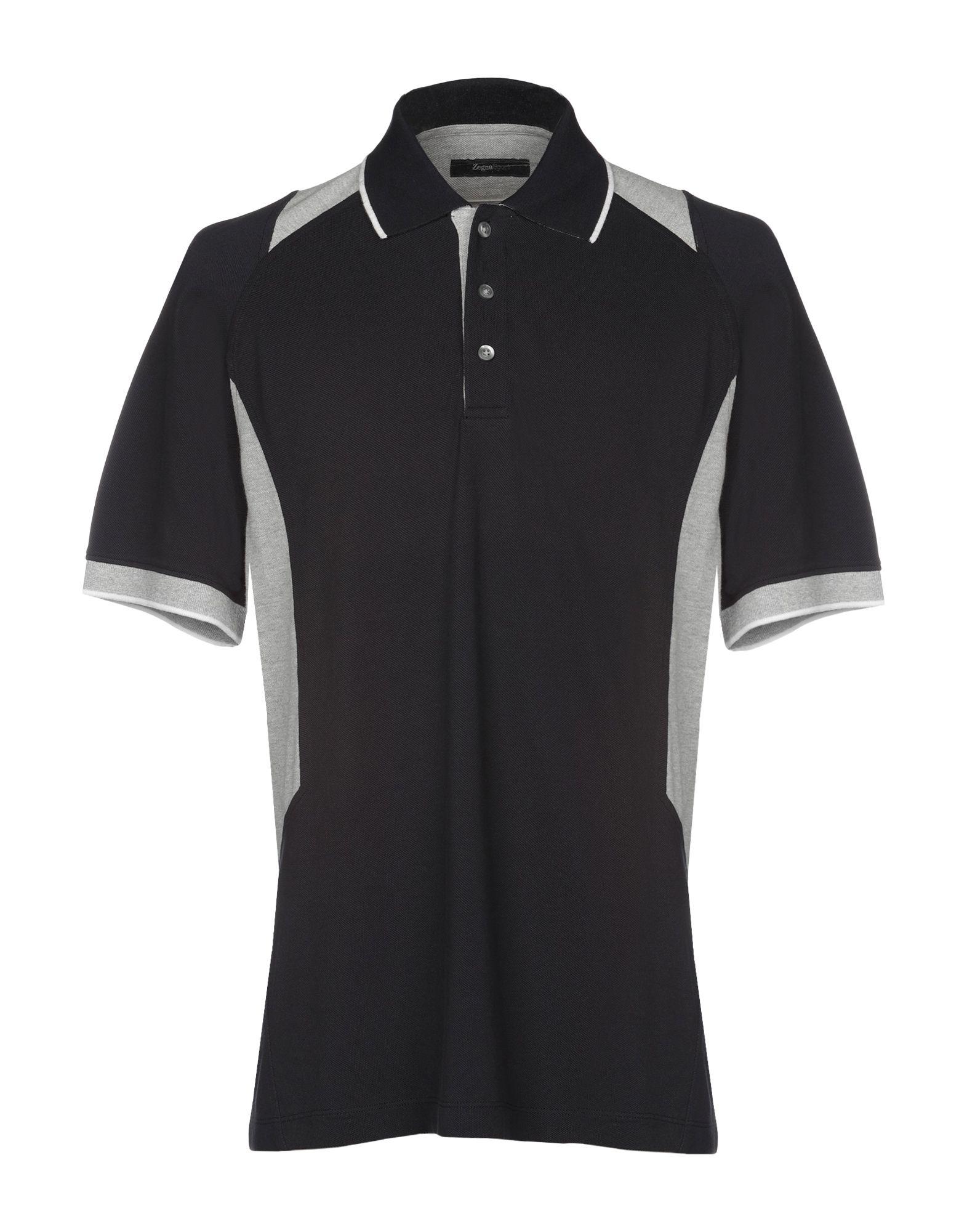 《送料無料》ZEGNA SPORT メンズ ポロシャツ ダークブルー L コットン 100%