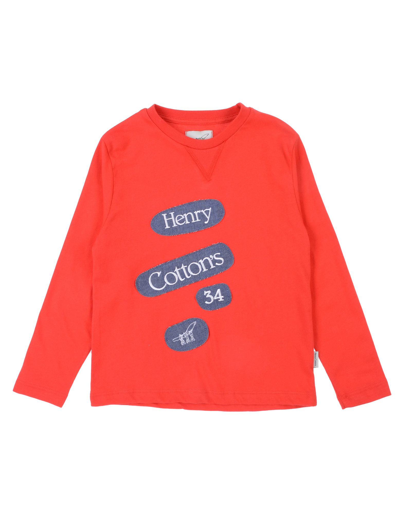 Henry Cotton's Kids' T-shirts In Red