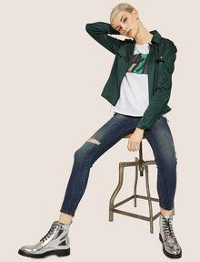 ARMANI EXCHANGE J69 SUPER-SKINNY RIPPED LIFT-UP DARK INDIGO JEAN Skinny jeans [*** pickupInStoreShipping_info ***] a