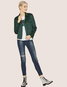 ARMANI EXCHANGE J69 SUPER-SKINNY RIPPED LIFT-UP DARK INDIGO JEAN Skinny jeans [*** pickupInStoreShipping_info ***] d