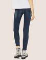 ARMANI EXCHANGE J69 SUPER-SKINNY RIPPED LIFT-UP DARK INDIGO JEAN Skinny jeans [*** pickupInStoreShipping_info ***] e