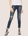 ARMANI EXCHANGE J69 SUPER-SKINNY RIPPED LIFT-UP DARK INDIGO JEAN Skinny jeans [*** pickupInStoreShipping_info ***] f