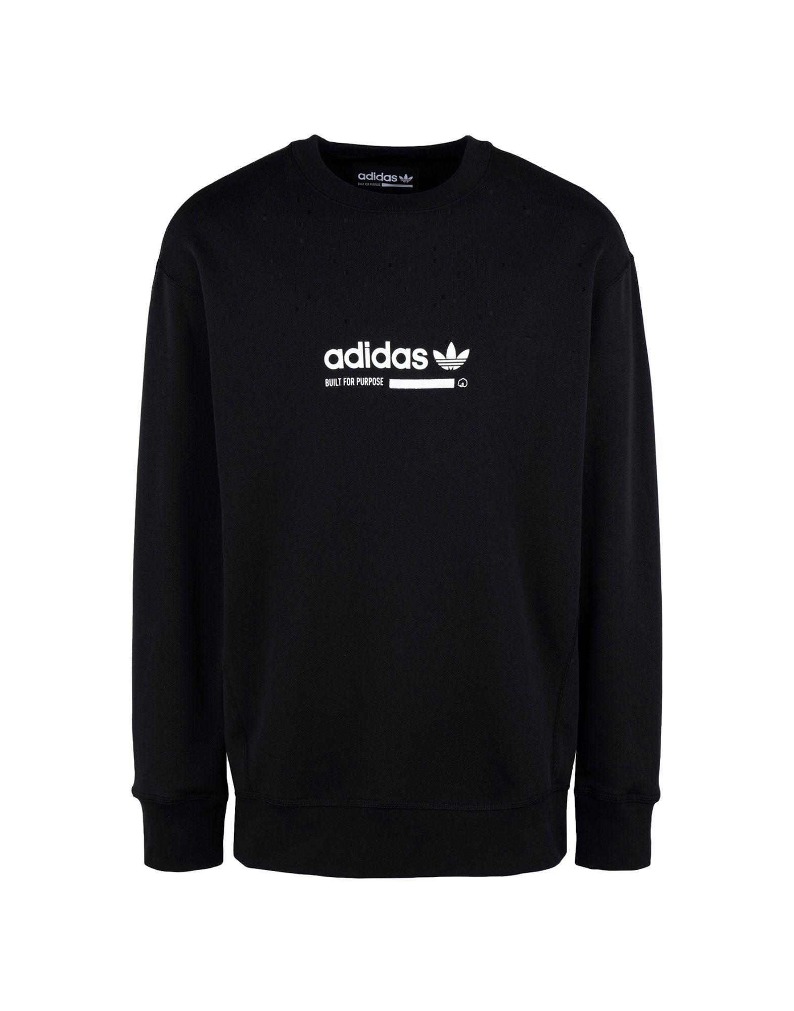 《送料無料》ADIDAS ORIGINALS メンズ スウェットシャツ ブラック S コットン 100% KAVAL CREW