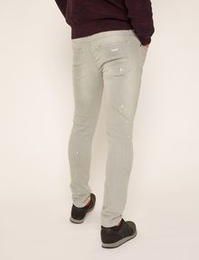 ARMANI EXCHANGE SKINNY-FIT GREY SPLATTER JEAN Skinny jeans Man e