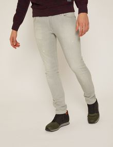 ARMANI EXCHANGE SKINNY-FIT GREY SPLATTER JEAN Skinny jeans Man f