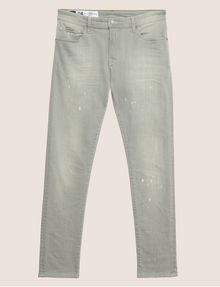 ARMANI EXCHANGE SKINNY-FIT GREY SPLATTER JEAN Skinny jeans Man r