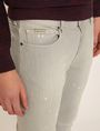 ARMANI EXCHANGE SKINNY-FIT GREY SPLATTER JEAN Skinny jeans Man b