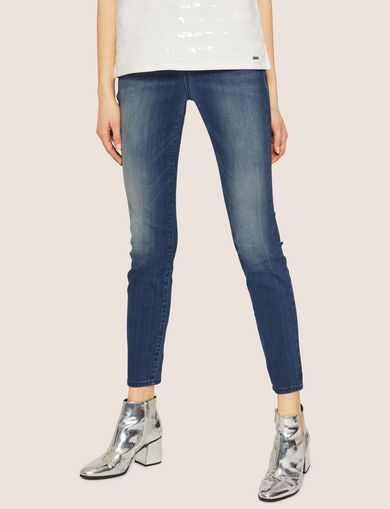 J05 SUPER-SKINNY POWER STRETCH CROPPED ZIP JEAN