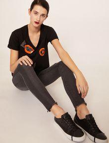 ARMANI EXCHANGE J10 SKINNY SIDE-STRIPE RIPPED JEAN Skinny jeans Woman a
