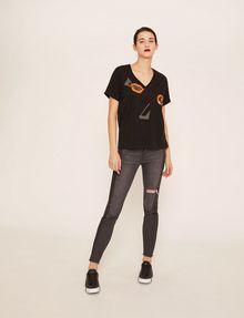 ARMANI EXCHANGE J10 SKINNY SIDE-STRIPE RIPPED JEAN Skinny jeans Woman d