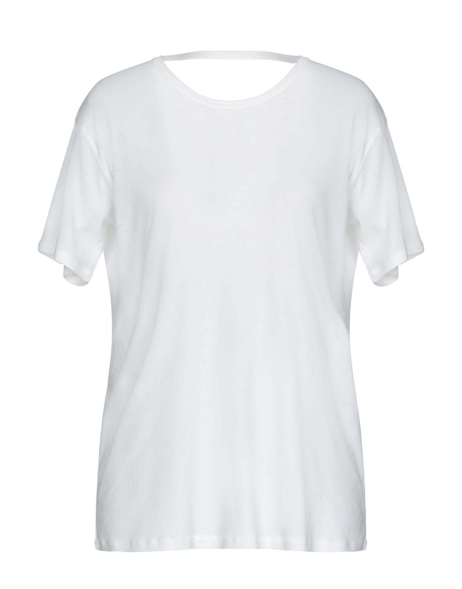 《期間限定セール中》SEMICOUTURE レディース T シャツ ホワイト M コットン 100%