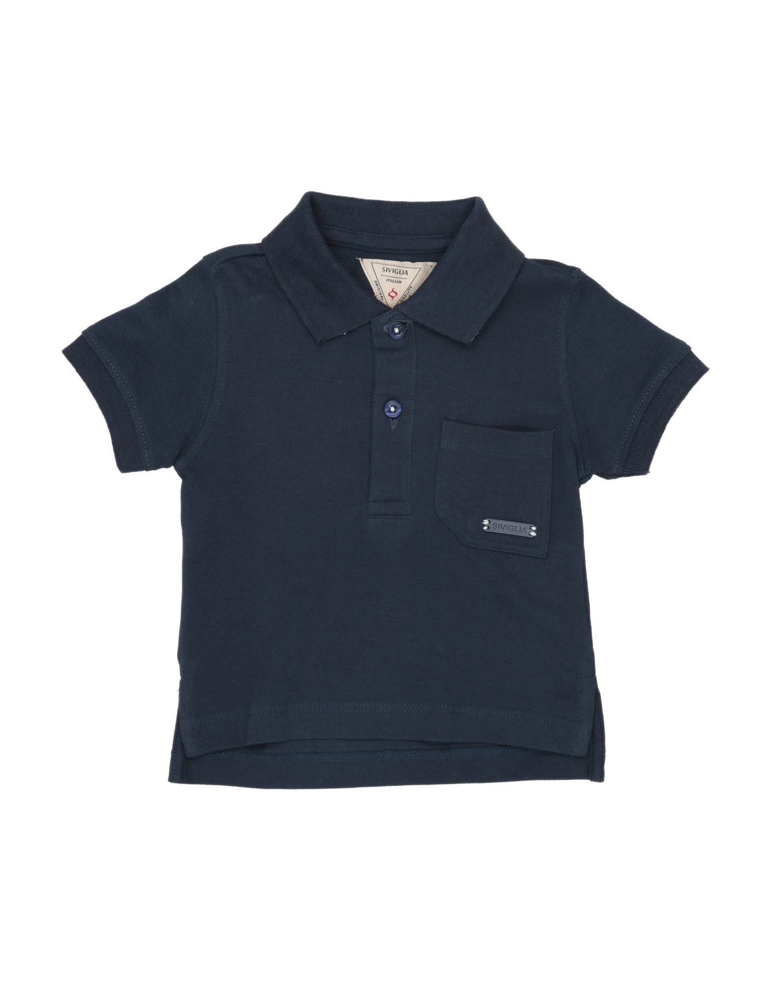 Siviglia Kids' Polo Shirts In Blue