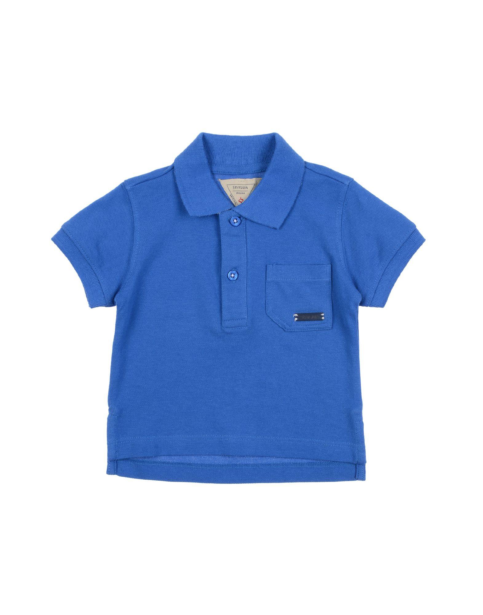 Siviglia Kids' Polo Shirts In Blue