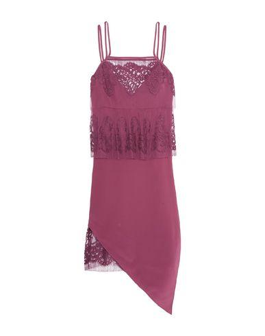 Купить Женское короткое платье  цвет пурпурный