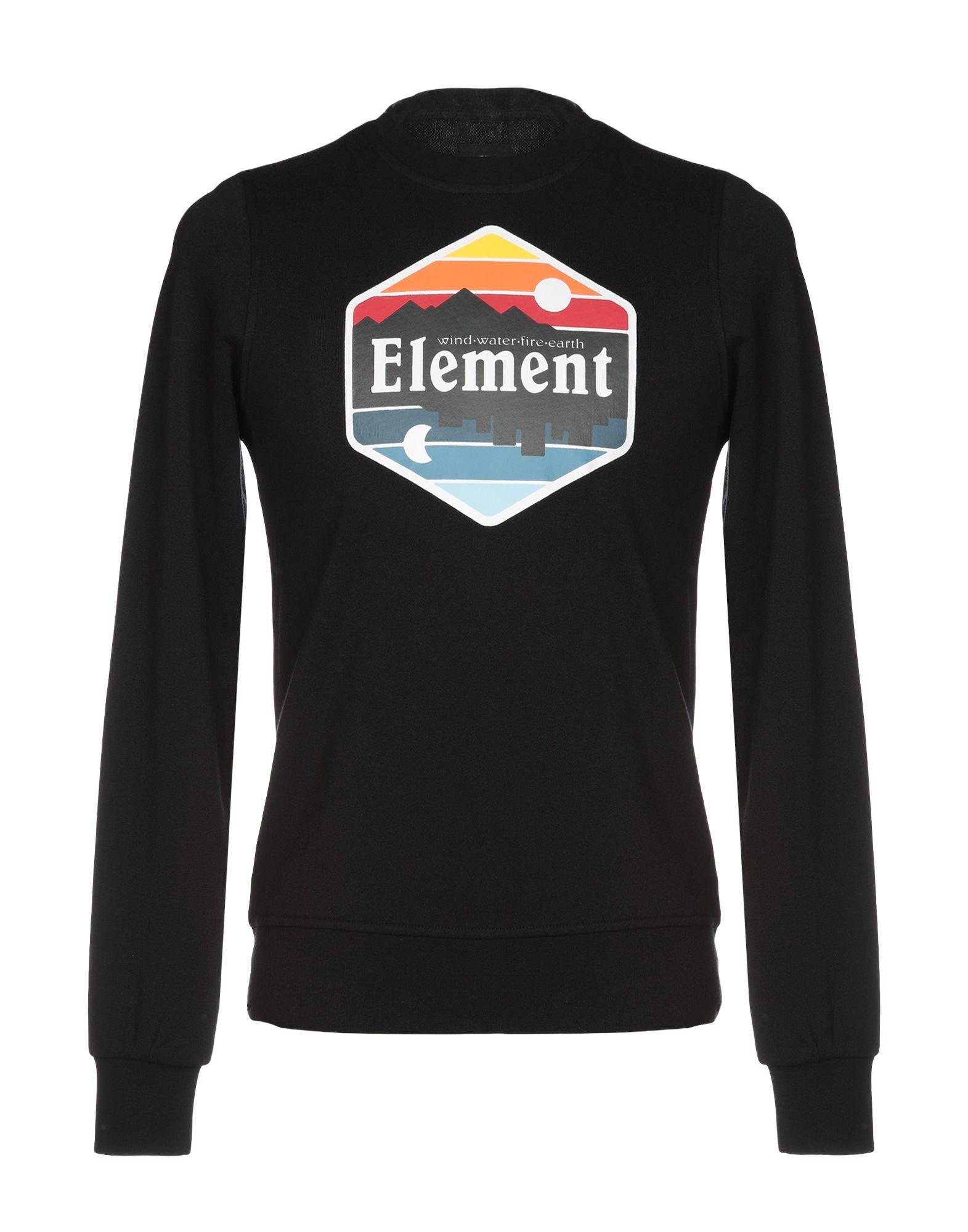 《送料無料》ELEMENT メンズ スウェットシャツ ブラック XS コットン 100%