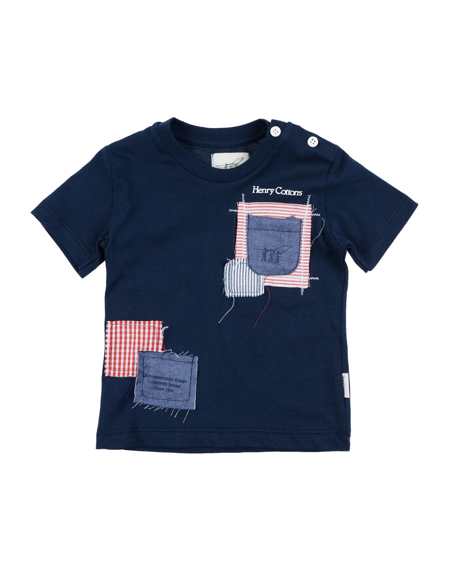 Henry Cotton's Kids' T-shirts In Blue