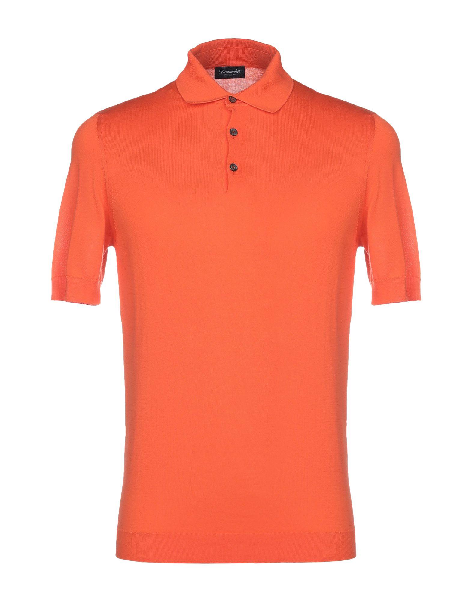 《送料無料》DRUMOHR メンズ プルオーバー オレンジ 46 コットン 100%