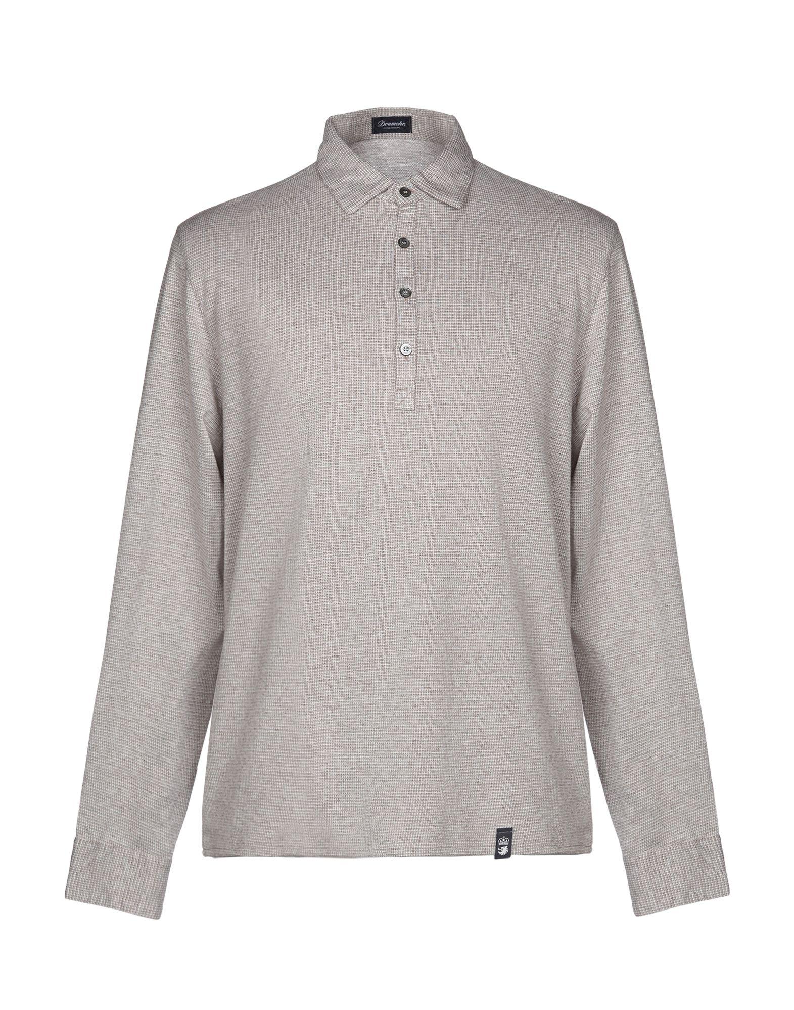 《送料無料》DRUMOHR メンズ ポロシャツ ベージュ S コットン 100%