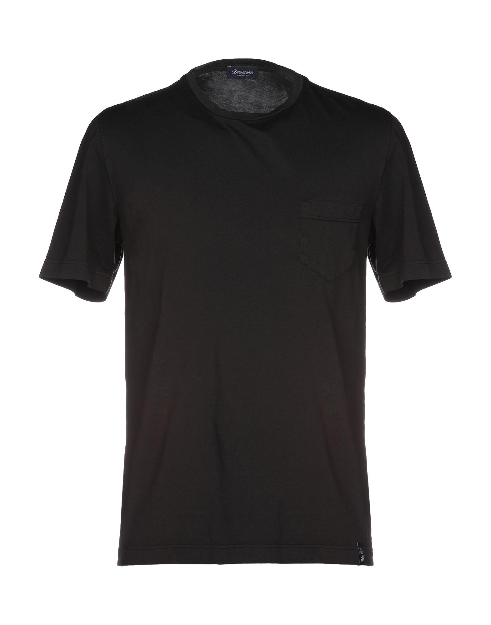 《送料無料》DRUMOHR メンズ T シャツ ブラック L コットン 100%