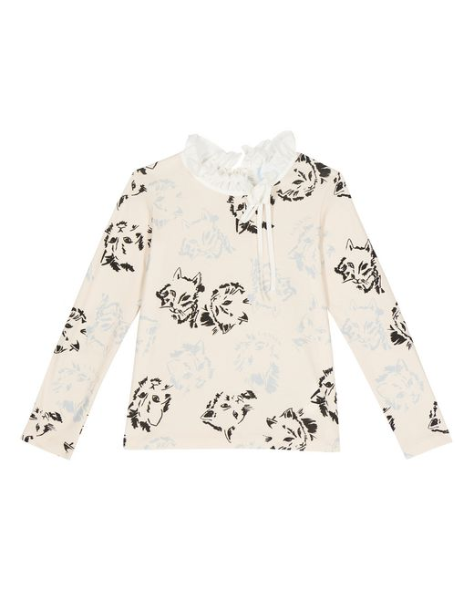 LONG-SLEEVED CAT PRINT T-SHIRT  - Lanvin