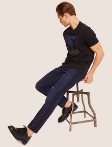 ARMANI EXCHANGE SLIM-FIT CONTRAST LINE DARK INDIGO JEAN SLIM FIT JEANS [*** pickupInStoreShippingNotGuaranteed_info ***] a