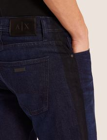 ARMANI EXCHANGE SLIM-FIT CONTRAST LINE DARK INDIGO JEAN SLIM FIT JEANS Man b