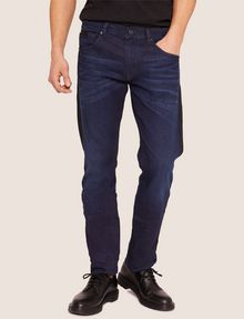 ARMANI EXCHANGE SLIM-FIT CONTRAST LINE DARK INDIGO JEAN SLIM FIT JEANS Man f