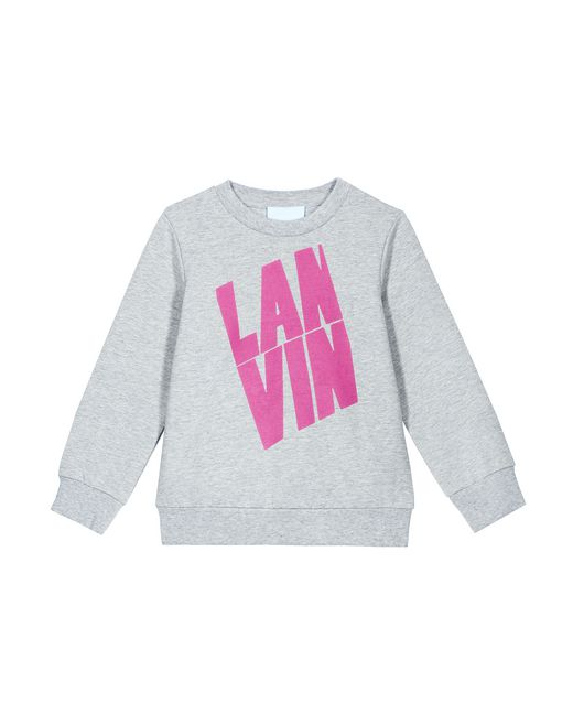 GRAY SWEATSHIRT WITH LANVIN LOGO  - Lanvin