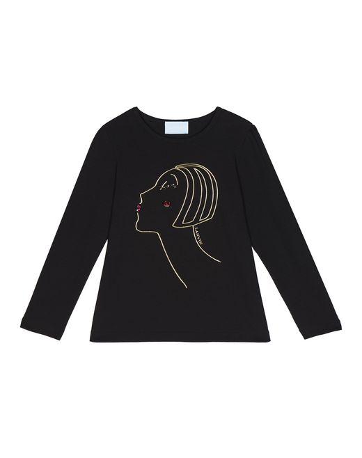 LONG-SLEEVED PROFILE PRINT T-SHIRT - Lanvin