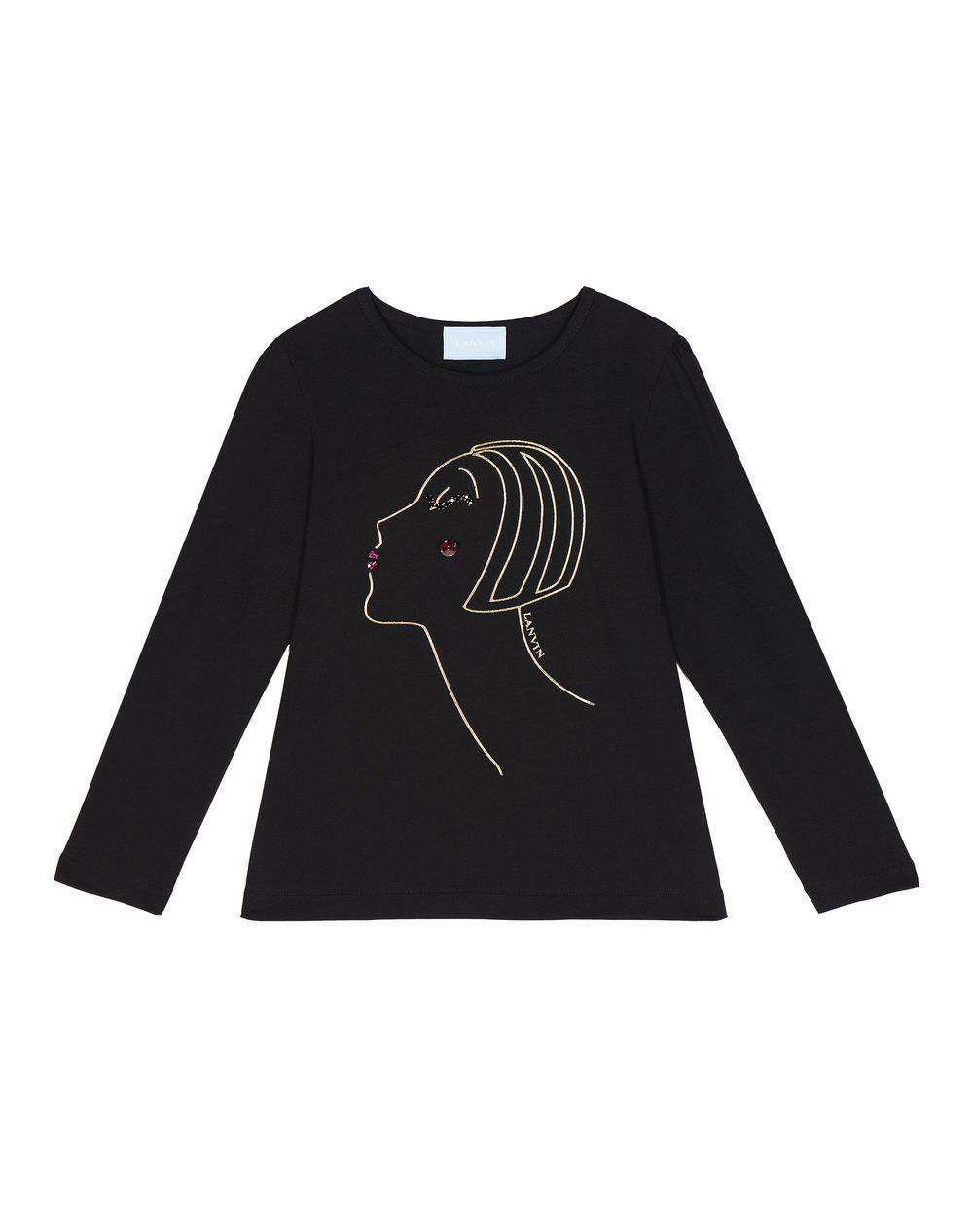 c1a2d36d9 Lanvin LONG SLEEVED PROFILE PRINT T SHIRT , Top Childrenswear ...