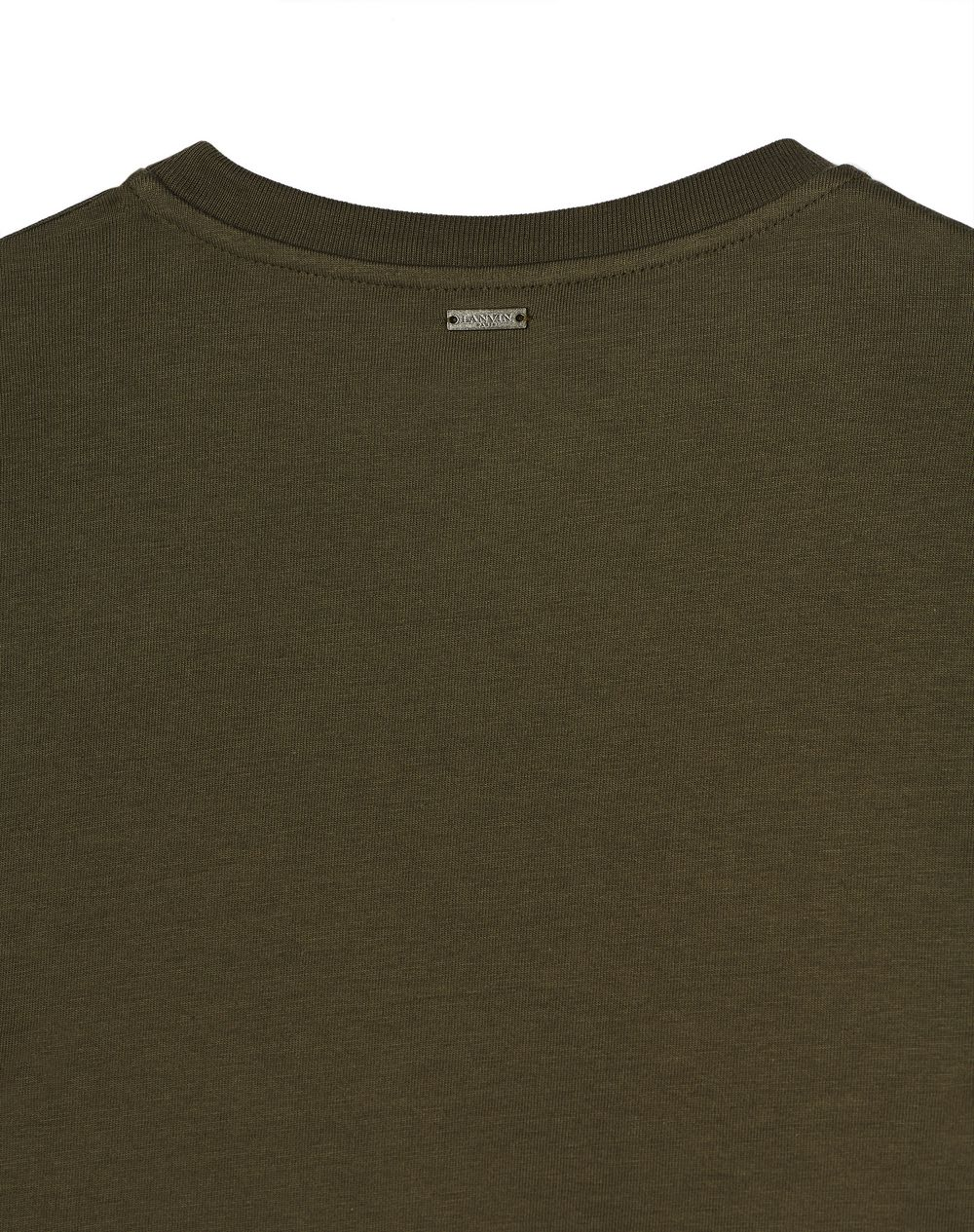 LONG-SLEEVED KHAKI T-SHIRT  - Lanvin