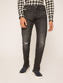 ARMANI EXCHANGE J16 STRAIGHT-FIT DESTROYED AND SPLATTERED JEAN STRAIGHT FIT JEANS [*** pickupInStoreShippingNotGuaranteed_info ***] f
