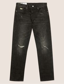 ARMANI EXCHANGE J16 STRAIGHT-FIT DESTROYED AND SPLATTERED JEAN STRAIGHT FIT JEANS [*** pickupInStoreShippingNotGuaranteed_info ***] r