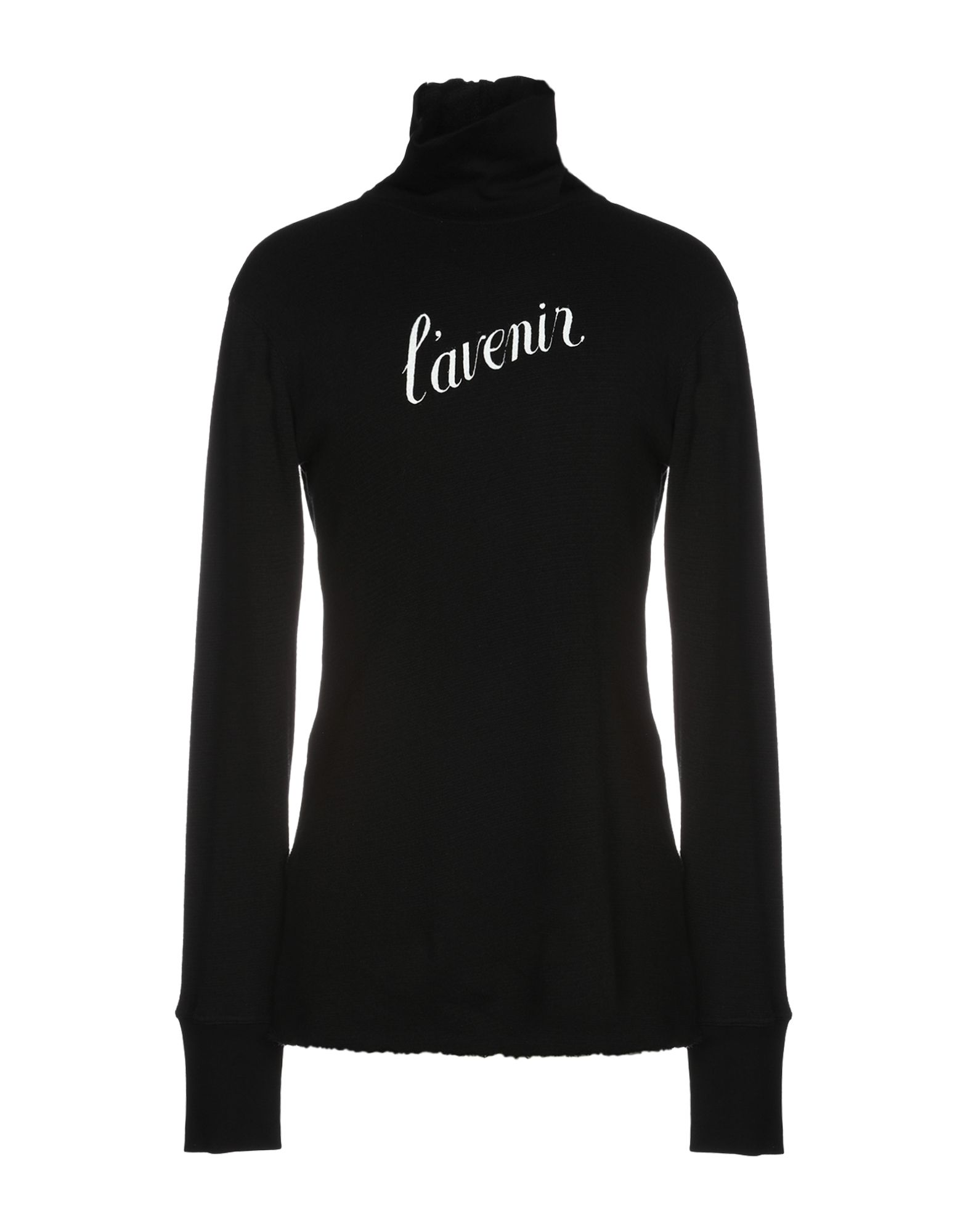 《送料無料》ANN DEMEULEMEESTER メンズ スウェットシャツ ブラック L コットン 100%