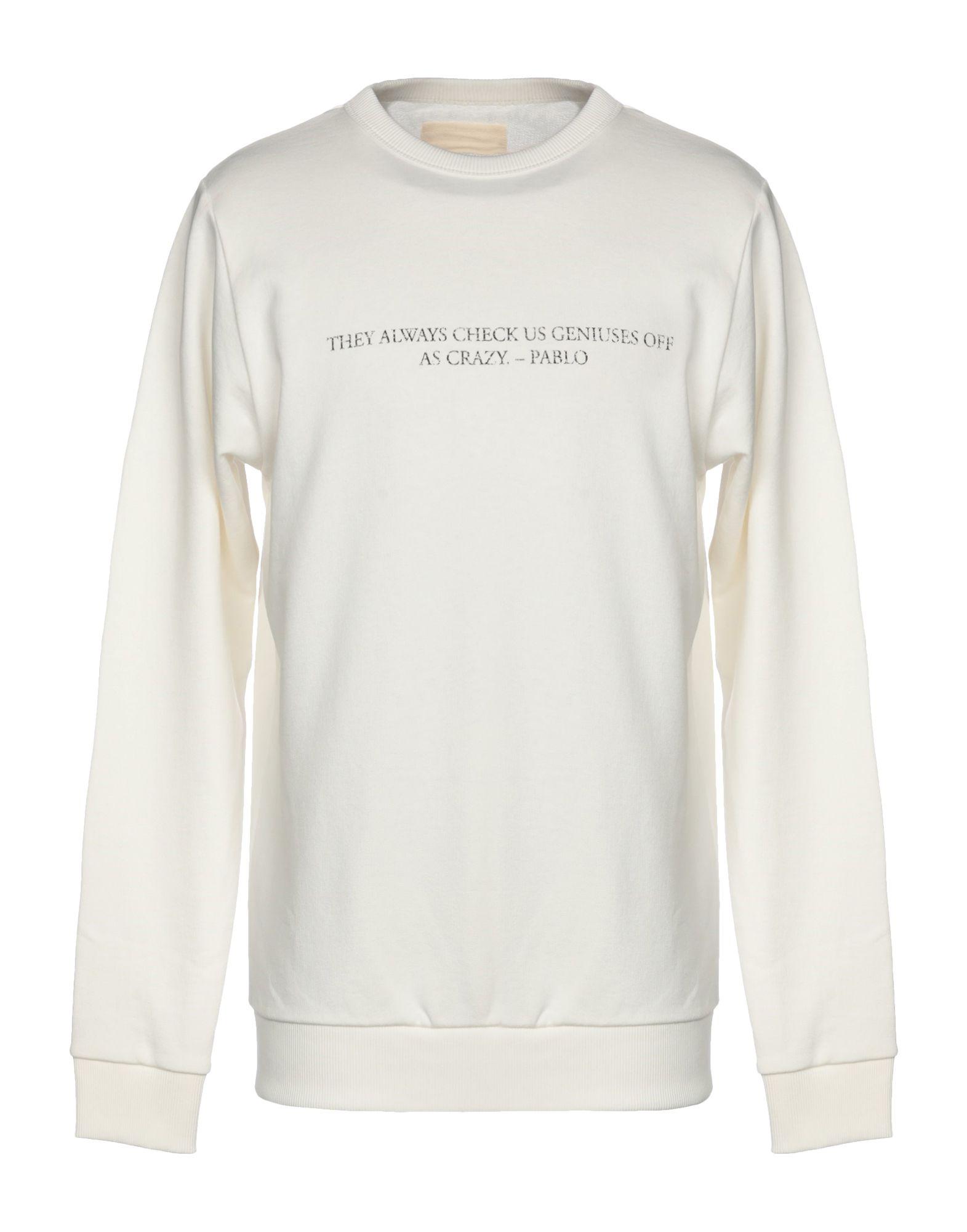 《送料無料》IH NOM UH NIT メンズ スウェットシャツ ホワイト XS コットン 100%