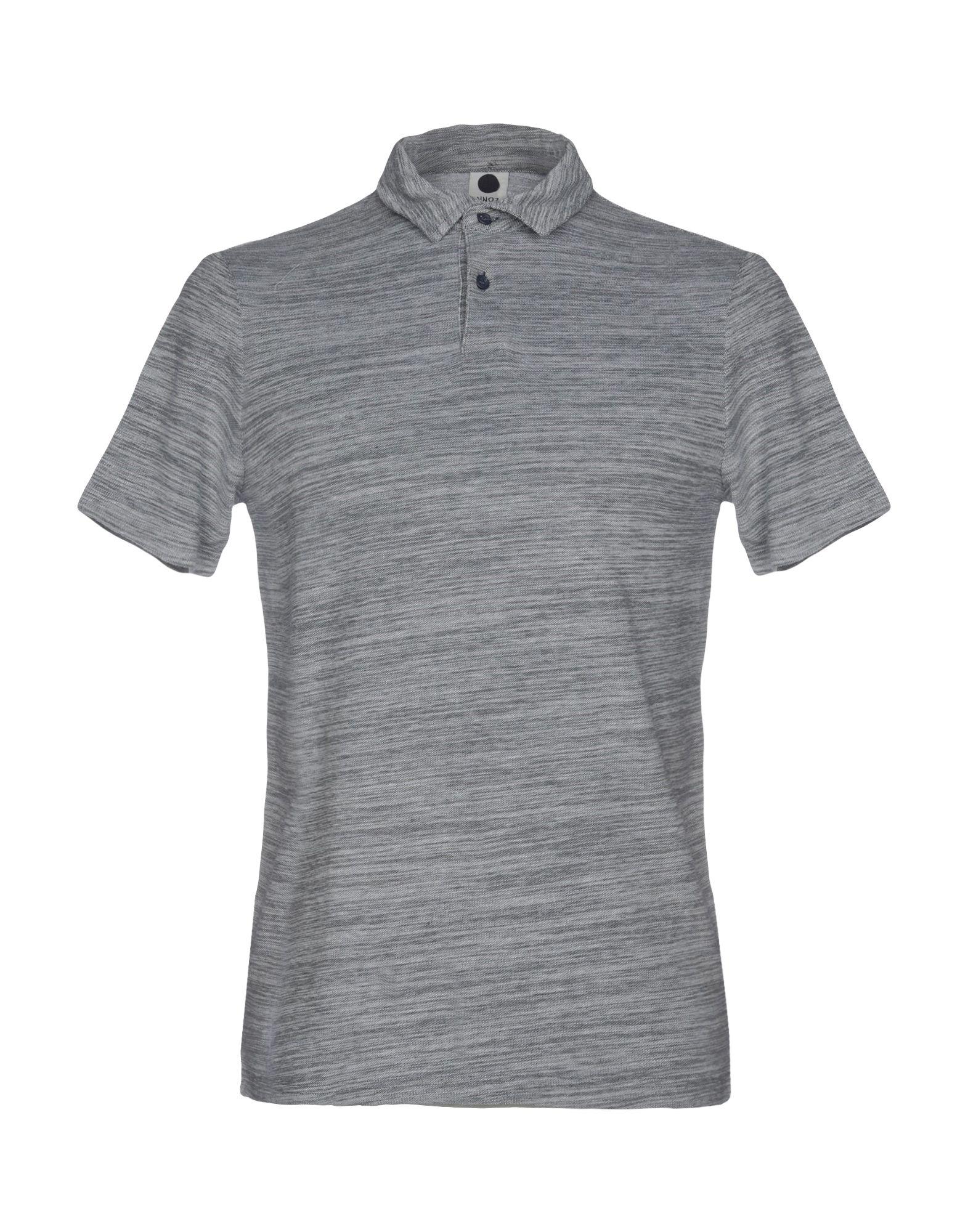 《送料無料》NN07 メンズ ポロシャツ ブルーグレー S コットン 100%