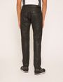 ARMANI EXCHANGE J27 COATED BLACK BIKER JEAN Skinny jeans Man e