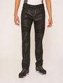 ARMANI EXCHANGE J27 COATED BLACK BIKER JEAN Skinny jeans Man f