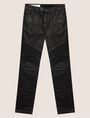 ARMANI EXCHANGE J27 COATED BLACK BIKER JEAN Skinny jeans Man r