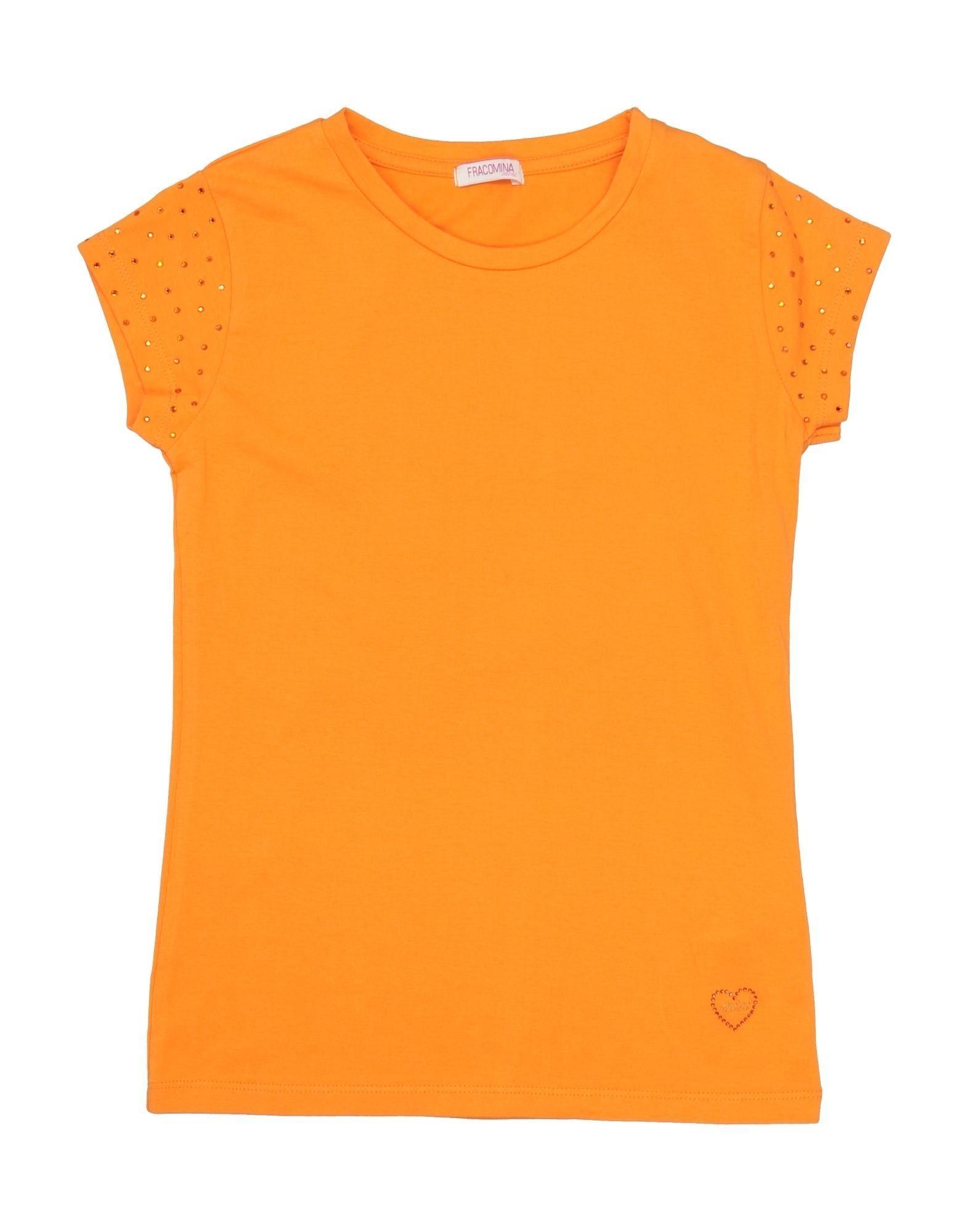 Fracomina Mini Kids' T-shirts In Orange