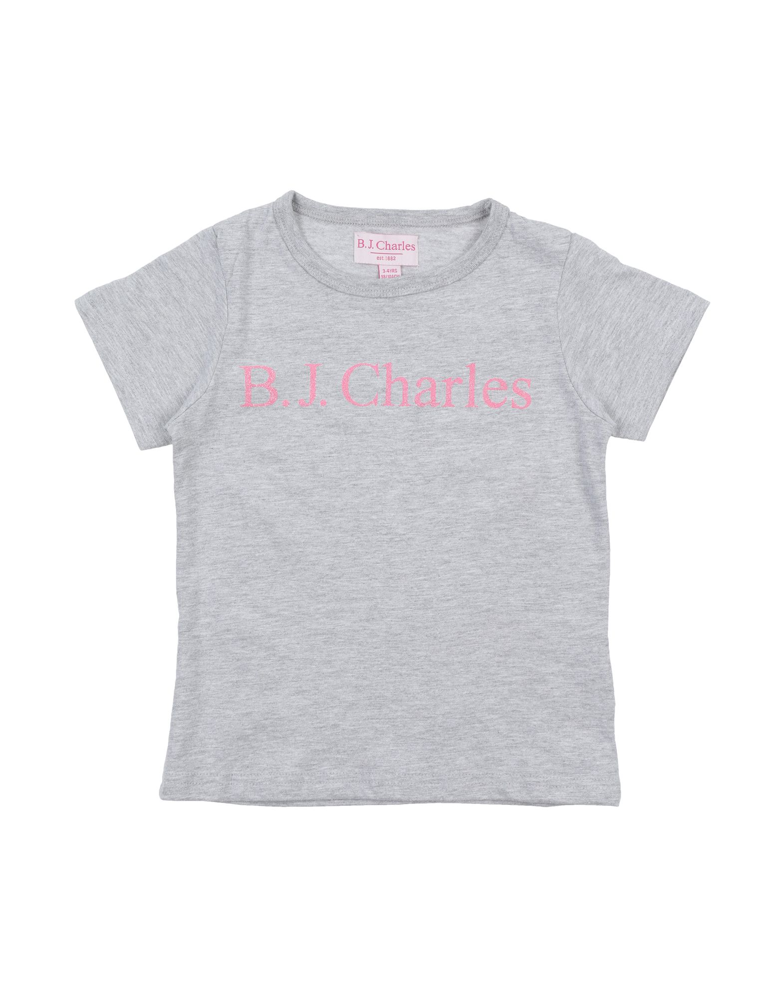 B.j.charles Kids' T-shirts In Grey