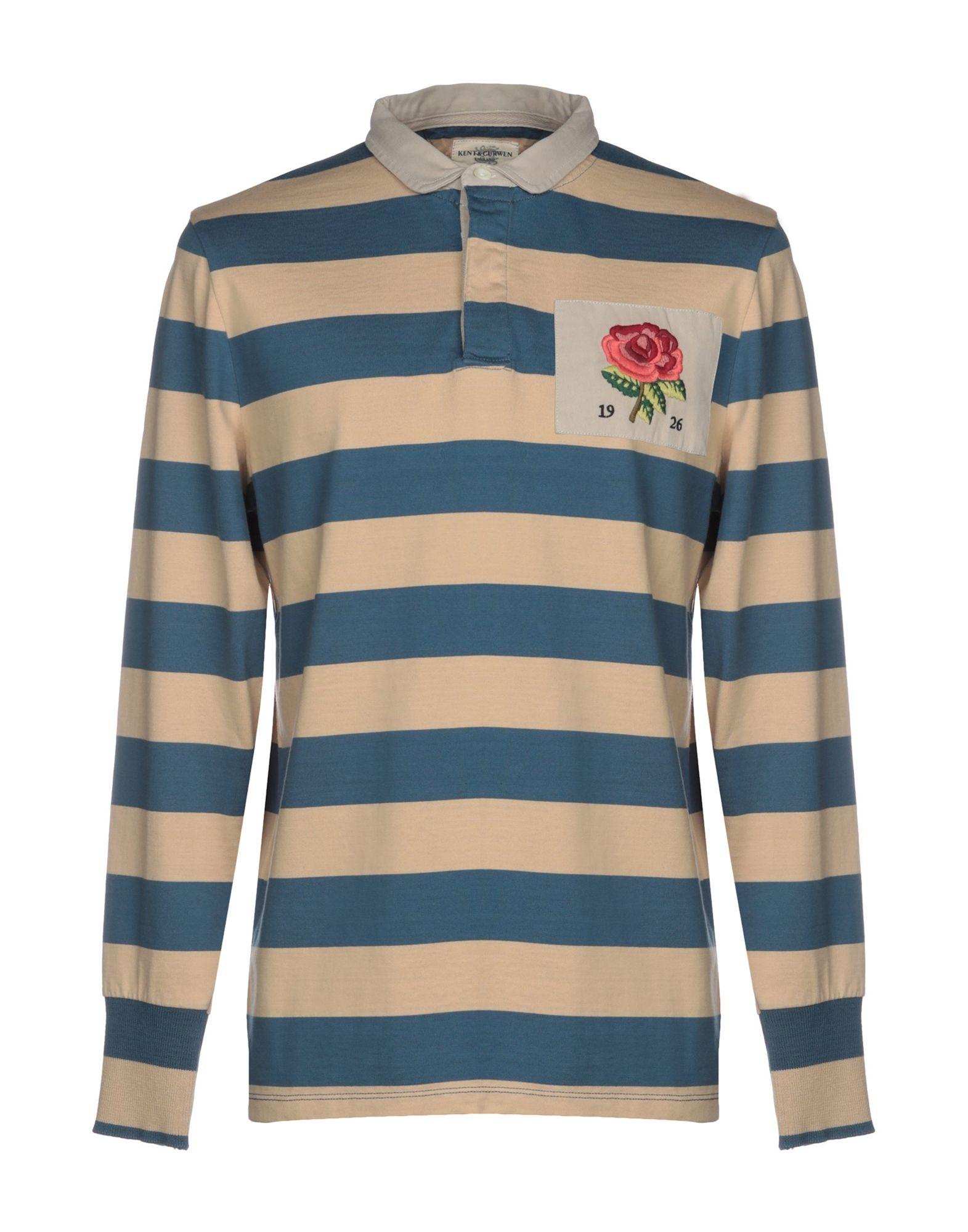 《送料無料》KENT & CURWEN メンズ ポロシャツ ブルー XS コットン 100%