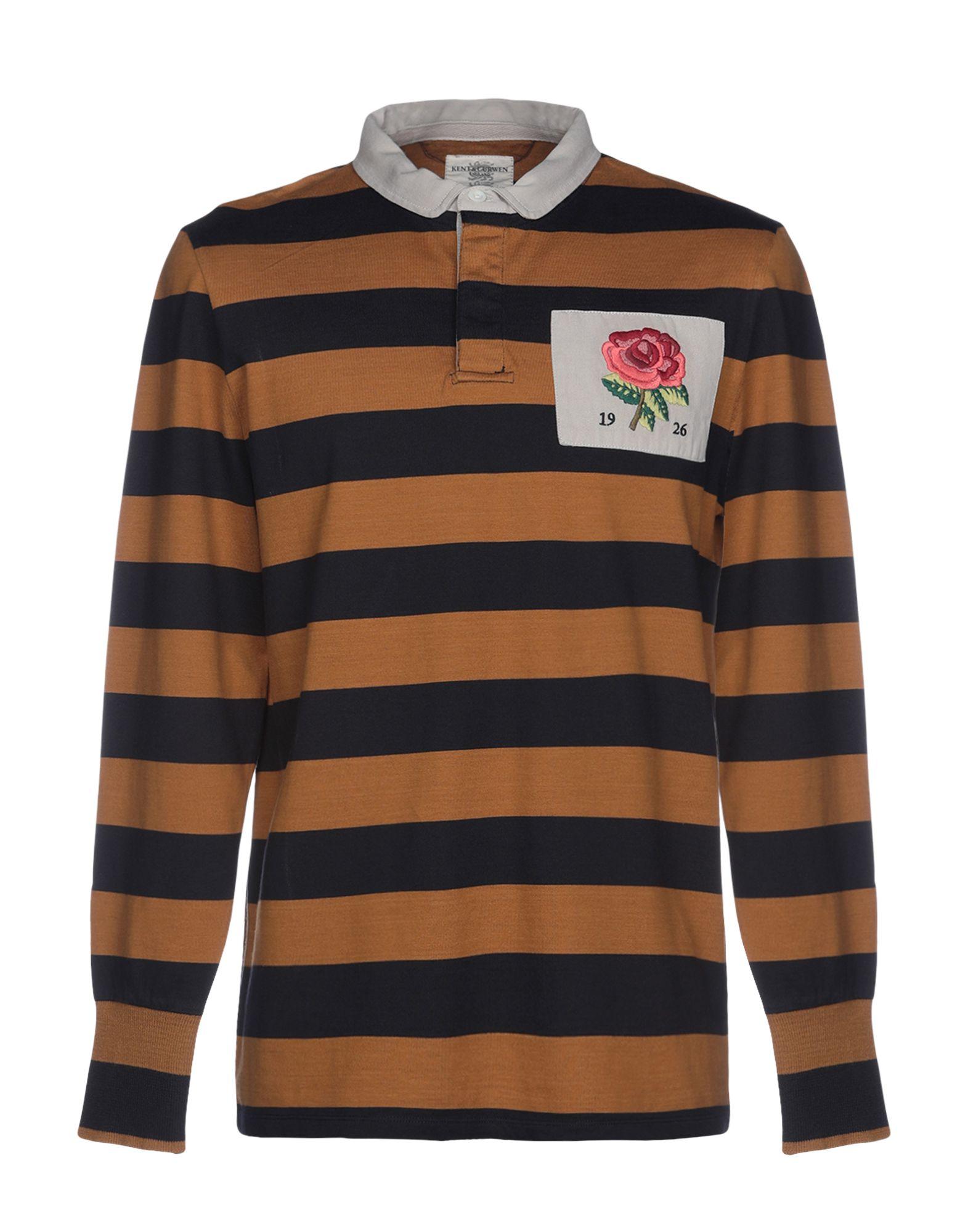 《期間限定セール中》KENT & CURWEN メンズ ポロシャツ オークル S 100% コットン