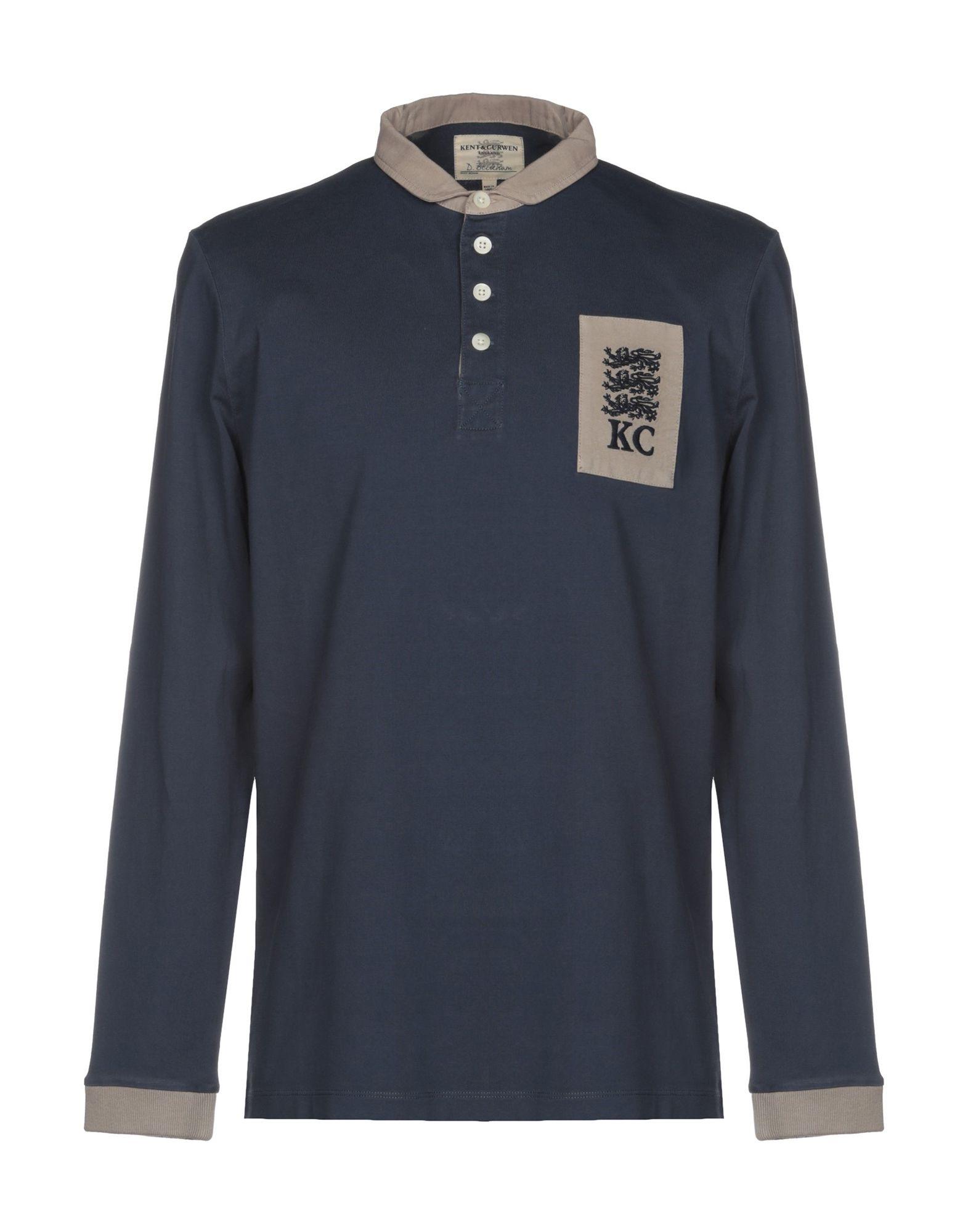 《送料無料》KENT & CURWEN メンズ ポロシャツ ダークブルー M コットン 100%