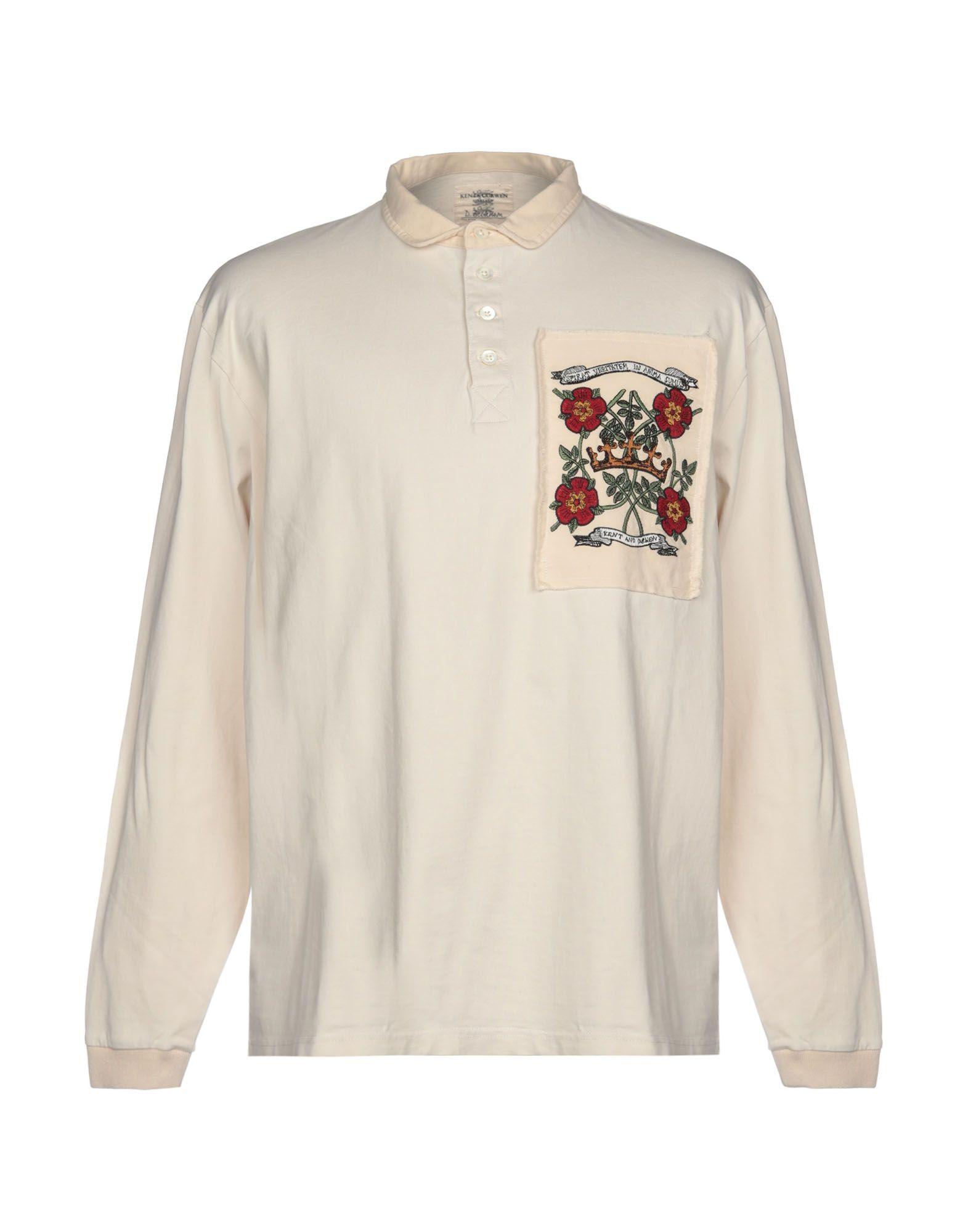 《セール開催中》KENT & CURWEN メンズ ポロシャツ アイボリー XS 100% コットン