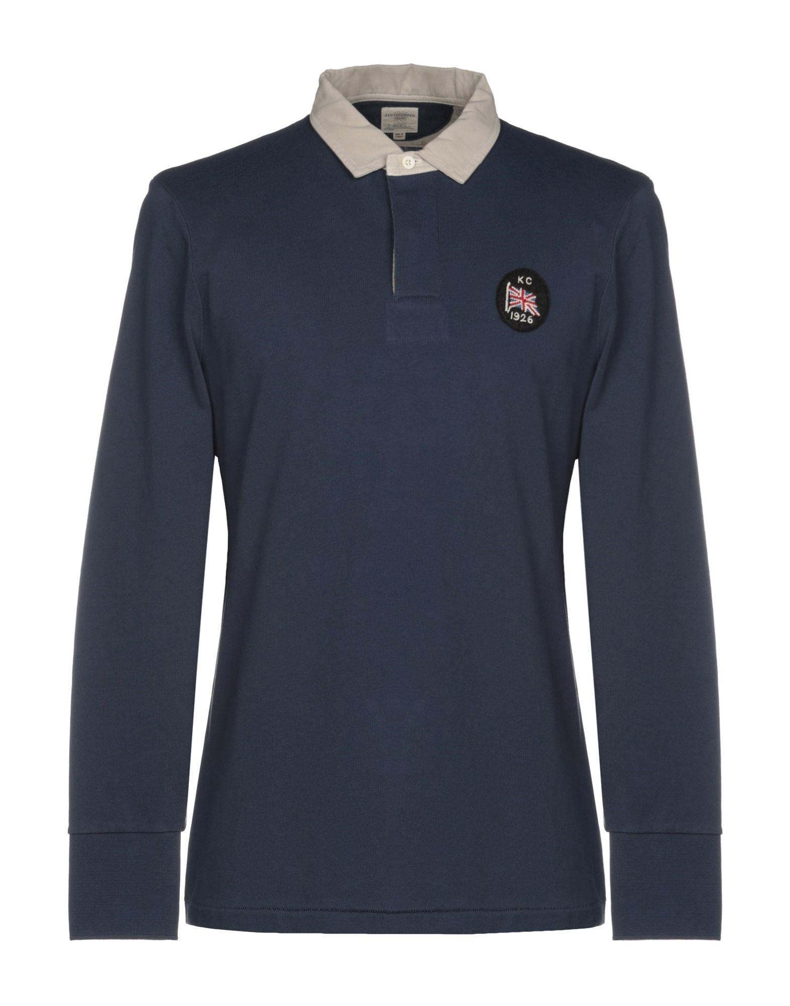 《セール開催中》KENT & CURWEN メンズ ポロシャツ ダークブルー XS 100% コットン